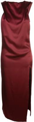 Cushnie asymmetric satin dress
