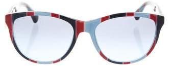 Dolce & Gabbana Printed Cat-Eye Sunglasses