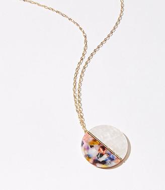 LOFT Resin Pendant Necklace