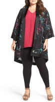 Melissa McCarthy Plus Size Women's Print Kimono Topper