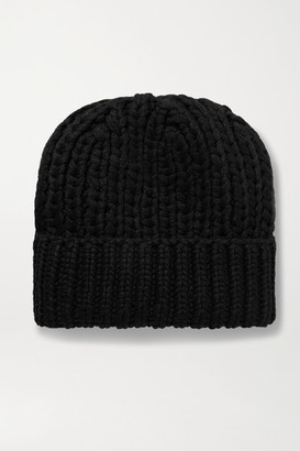 The Row Ayfer Ribbed Cashmere Beanie - Black