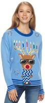 It's Our Time Juniors' Light-Up Hanukkah Sweater