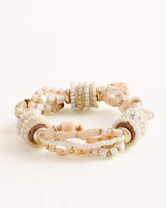 Chico's Chicos Neutral Seed Bead Stretch Bracelet