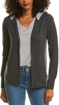 Ply Cashmere High-Low Cashmere Hoodie