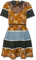 Coach multiple floral prints dress