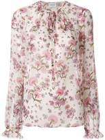 Giambattista Valli tie neck floral blouse