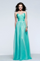 Faviana Ruched Sweetheart Chiffon Evening Gown 7584