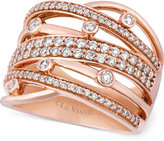 LeVian Le Vian Vanilla® Gladiator WeaveTM Diamond Ring (3/4 ct. t.w.) in 14k Rose Gold
