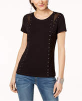 INC International Concepts I.n.c. Studded T-Shirt, Created for Macy's