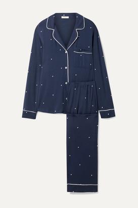 Eberjey Sleep Chic Polka-dot Stretch-modal Pajama Set - Navy