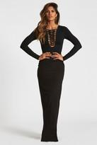 Donna Mizani Lace Up Gown