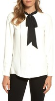 Anne Klein Women's Bow Neck Blouse