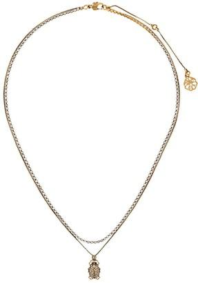 Alexander McQueen Crystal Beetle Necklace