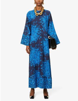 Valentino Floral-print crepe maxi dress