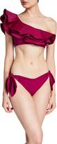 Johanna Ortiz Morning Glory Ruffle One-Shoulder Bikini Top