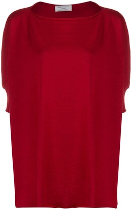 Societe Anonyme Oversized Fit Crop Sleeve Knitted Top