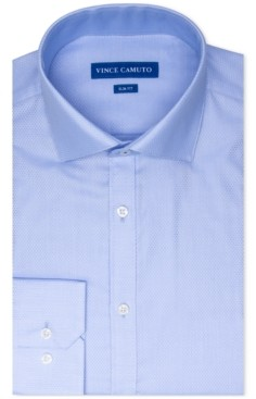 Vince Camuto Men's Slim-Fit Stretch Dobby Dress Shirt