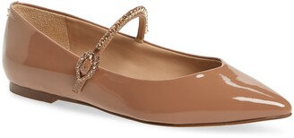 Sam Edelman Rally Crystal Mary Jane Pointed Toe Flat