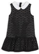 Kate Spade Toddler's & Little Girl's Drop Waist Cotton Eyelet Dress