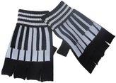 Sheer Delights and White Piano Key Music Fingerless Gloves/ Glovelets