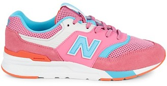 New Balance Kid's Colorblock Lace-Up Sneakers