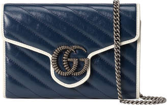 Gucci GG Marmont Torchon Wallet On Chain Mini Bag