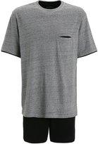 Schiesser Set Pyjama Set Grau Meliert