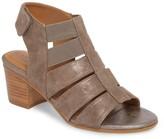 Comfortiva Alexis Metallic Suede Block Heel Sandal