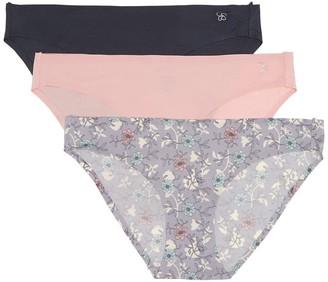 Jessica Simpson Microfiber Bikini Panties - Pack of 3