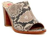 Elaine Turner Designs Rori Open Toe Python Embossed Mule