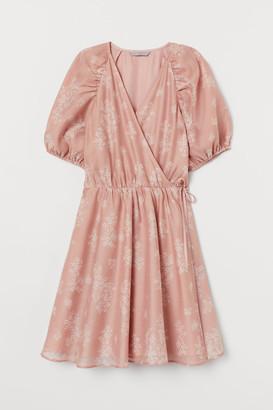 H&M Organza Wrap Dress - Orange