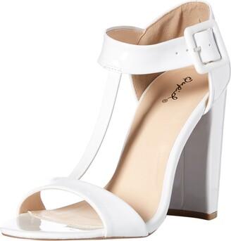 Qupid Women's Cashmere-16 t-strap sandal