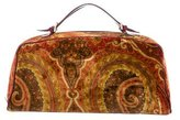 Etro Paisley Velvet Handle Bag