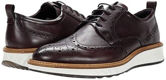 Ecco ST1 Hybrid Brogue Tie (Black) Men's Shoes