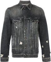 R 13 distressed denim jacket