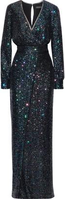 Rachel Zoe Stellabella Wrap-effect Sequined Tulle Gown