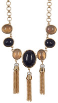 Cole Haan Multi-Stone, Freshwater Pearl & Fringe Link Necklace