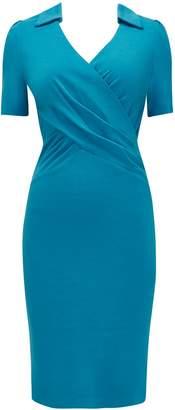 Wallis **Jolie Moi Teal Wrap Dress