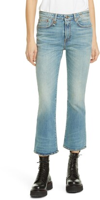 R 13 Kick Fit Crop Jeans