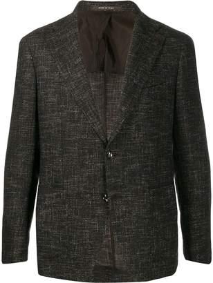 Tagliatore single-breasted tweed blazer
