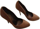 Salvatore Ferragamo Ecru Leather Heels