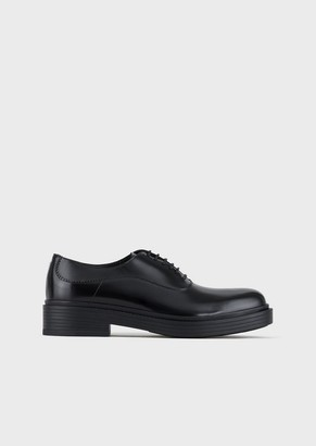 Giorgio Armani Vintage-Style Leather Oxford Shoes
