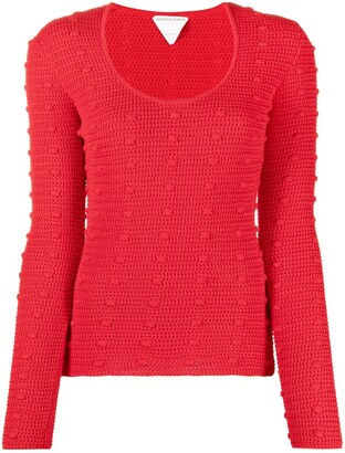Bottega Veneta Pompom-Detail Knitted Top