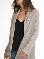 White + Warren Cashmere High Rib Cardigan