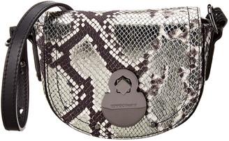 Longchamp Cavalcade Xs Snake-Embossed Leather Crossbody