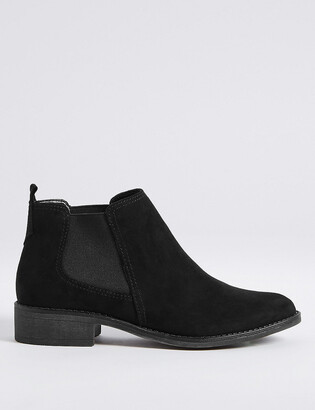 Marks and Spencer Suede Chelsea Block Heel Ankle Boots
