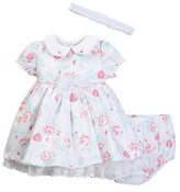 Little Me Fancy Floral Dress, Bloomer, & Headband Set (Baby Girls)