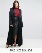 Elvi Black Satin Coat