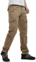 Lanbaosi Men's Casual Work Cargo Pants Multi Outdoor Hiking Pants with Pocket