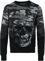 Philipp Plein camouflage skull jumper - men - Wool/Viscose/Polyester - M